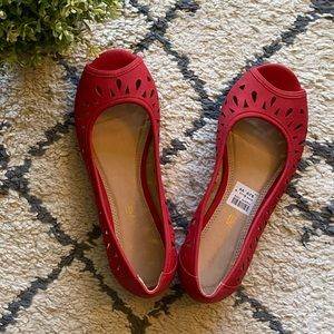 NWT American Eagle Red Flats (6.5 W)